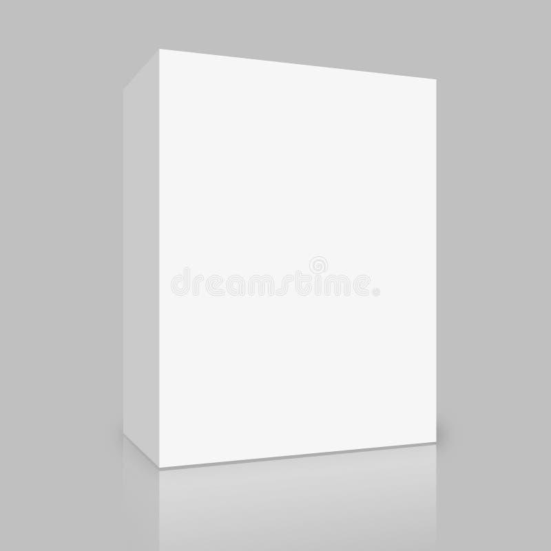Unbelegter weißer Kasten auf Grau vektor abbildung