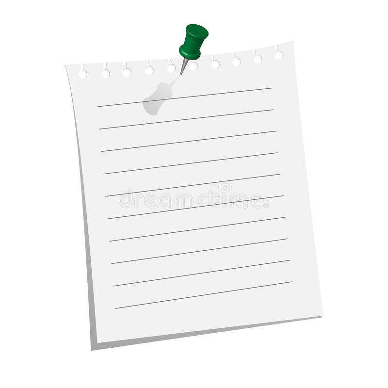 Unbelegtes Blatt Papier lizenzfreie abbildung