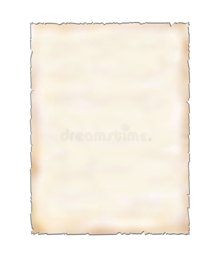 Unbelegtes Blatt Papier auf Weiß lizenzfreies stockbild