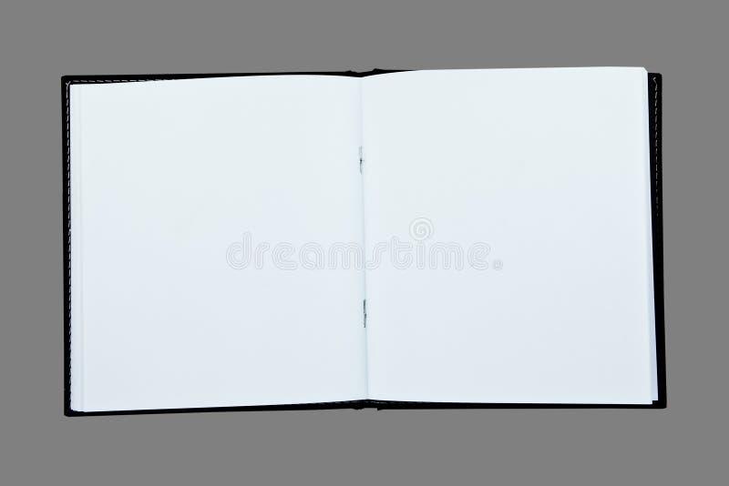 Unbelegtes Buch öffnen Seite zwei stockfotos