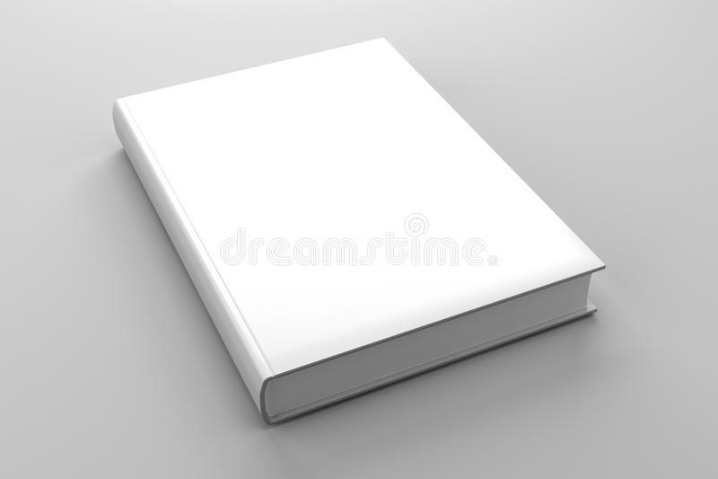 Unbelegtes Bucheinbandweiß getrennt stock abbildung