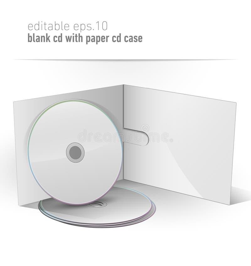 Unbelegtes CD DVD im Papierfall lizenzfreie abbildung