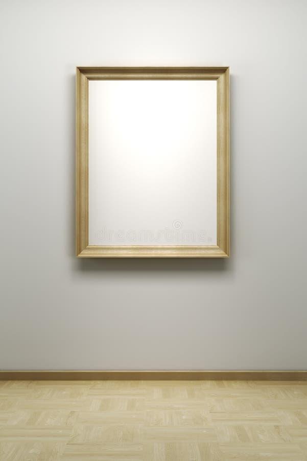 Unbelegtes Feld in der Galerie lizenzfreie abbildung