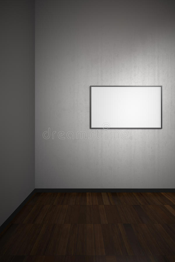 Unbelegtes Feld in der Kunst-Galerie vektor abbildung
