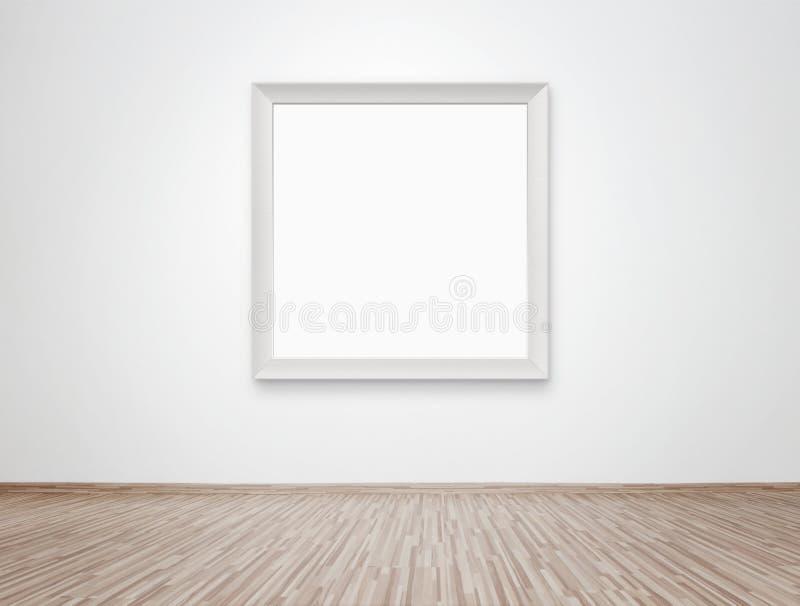 Unbelegtes Feld an der Wand stockfotografie