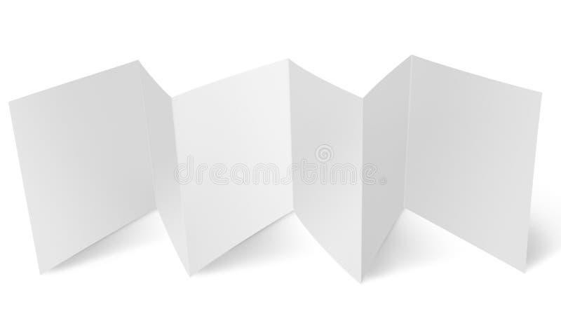 Unbelegtes Flugblatt mit Zickzackfalte lizenzfreie stockbilder