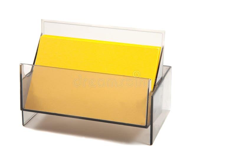 Unbelegtes gelbes Geschäft/Namenskarte lizenzfreies stockbild