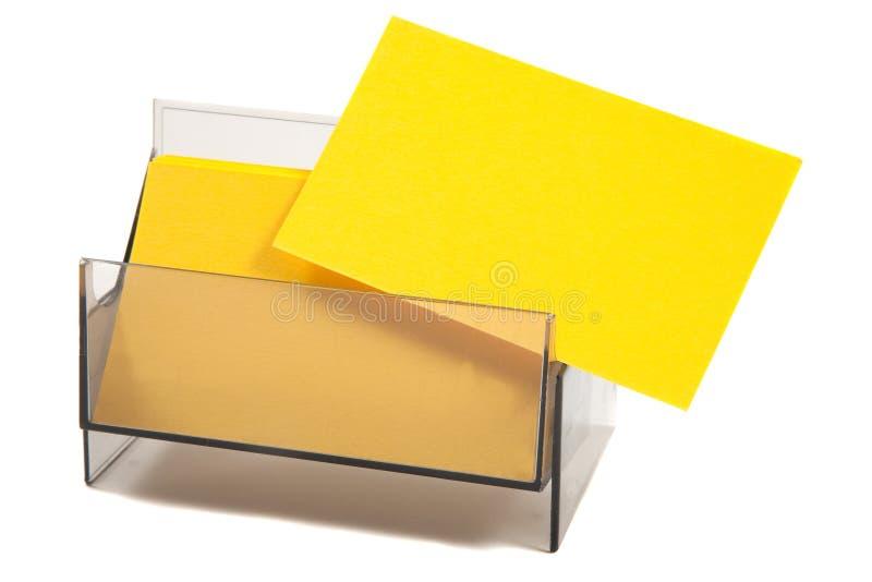 Unbelegtes gelbes Geschäft/Namenskarte lizenzfreie stockfotos