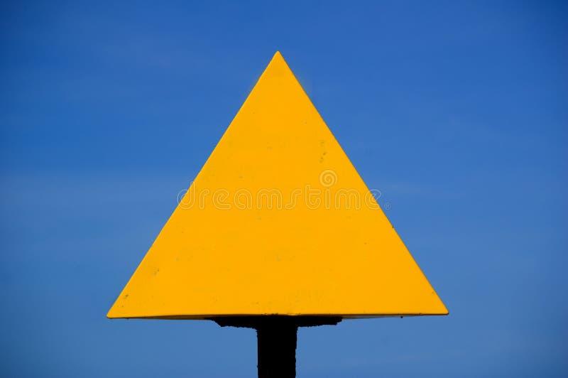 Unbelegtes gelbes Zeichen lizenzfreies stockbild