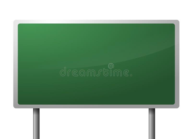 Unbelegtes grünes Datenbahnzeichen lizenzfreie abbildung