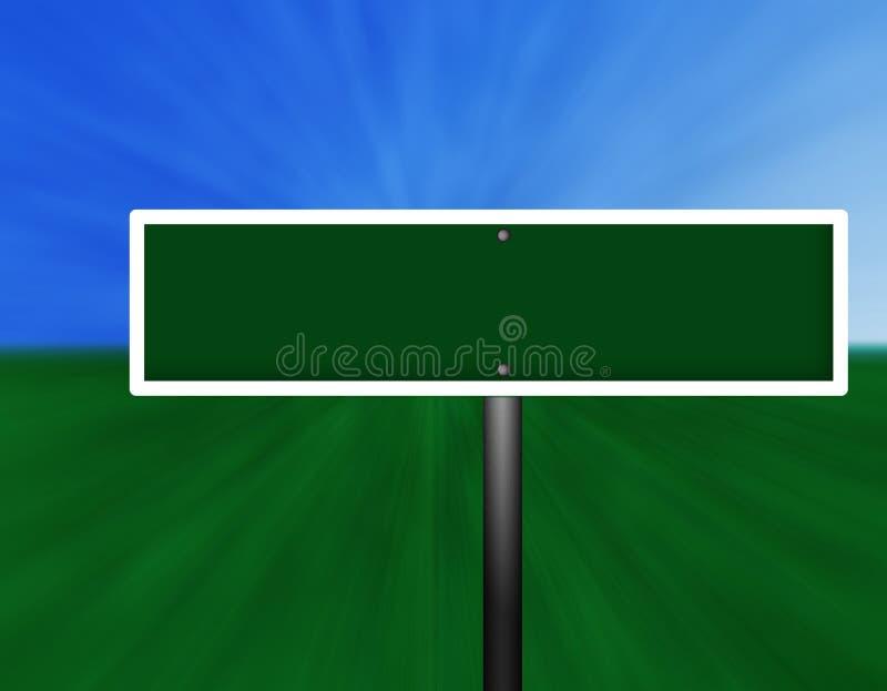 Unbelegtes grünes Straßenschild lizenzfreie abbildung