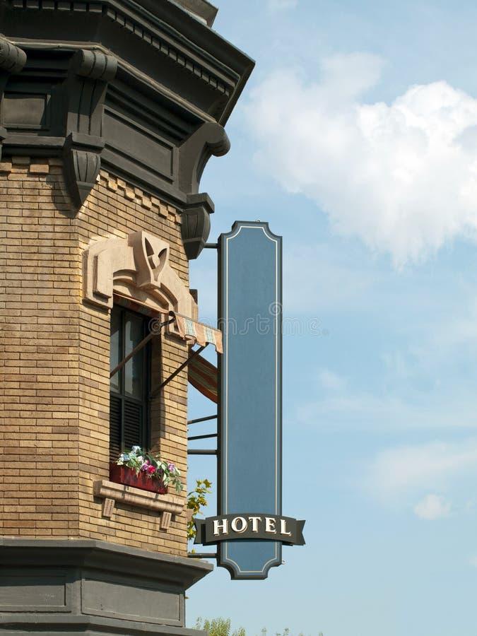 Unbelegtes Hotel-Zeichen stockfoto