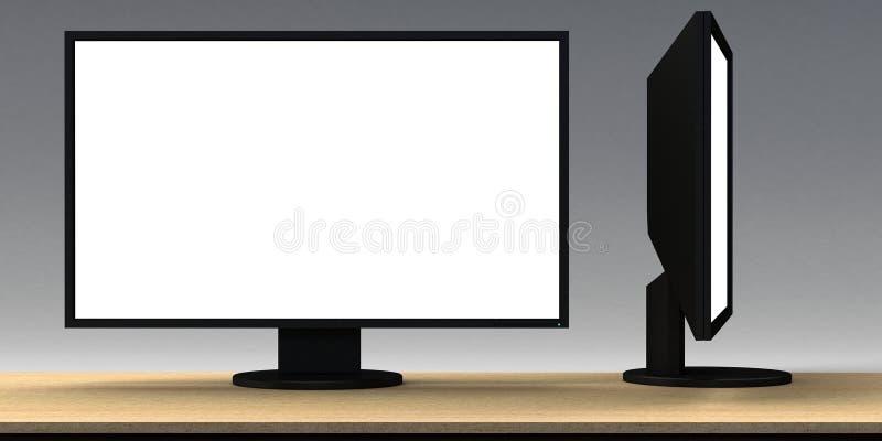 Download Unbelegtes LCD-Überwachungsgerät Stock Abbildung - Illustration von leerzeichen, ansicht: 26363348