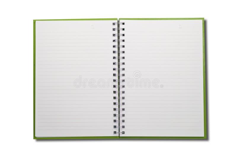 Unbelegtes Notizbuch öffnen Gesicht zwei lizenzfreie stockbilder