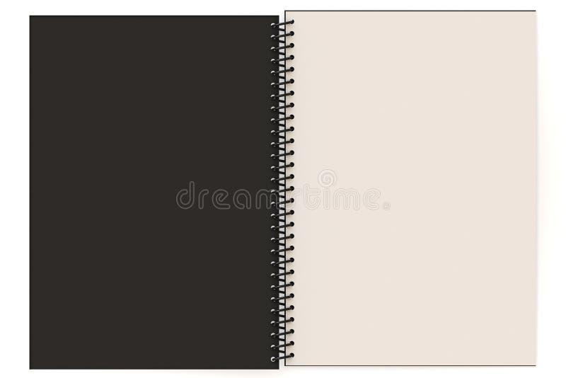 Unbelegtes Notizbuch vektor abbildung