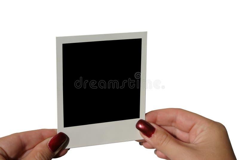 Unbelegtes Polaroid anhalten - getrenntes #2 stockfoto