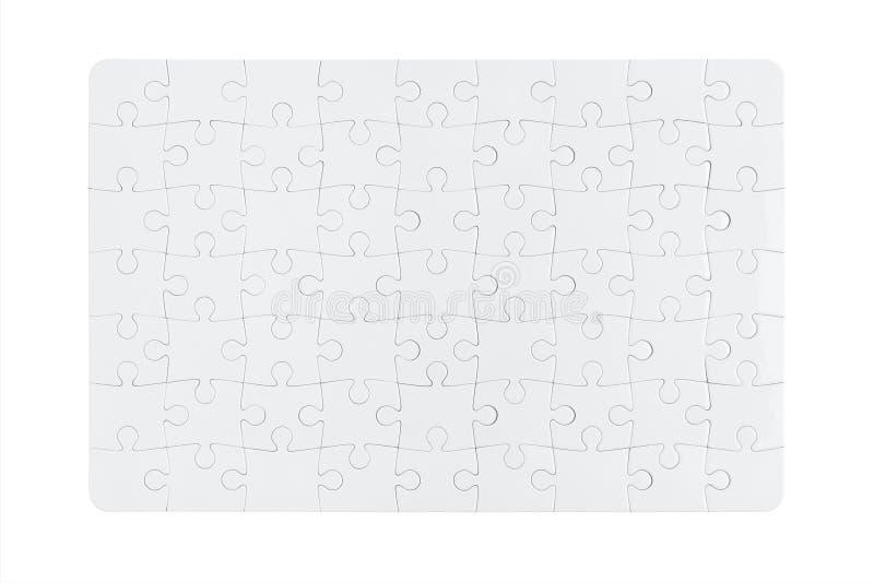Unbelegtes Puzzle lizenzfreie stockbilder