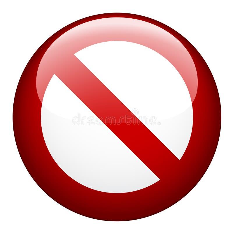 Unbelegtes Verbot vektor abbildung