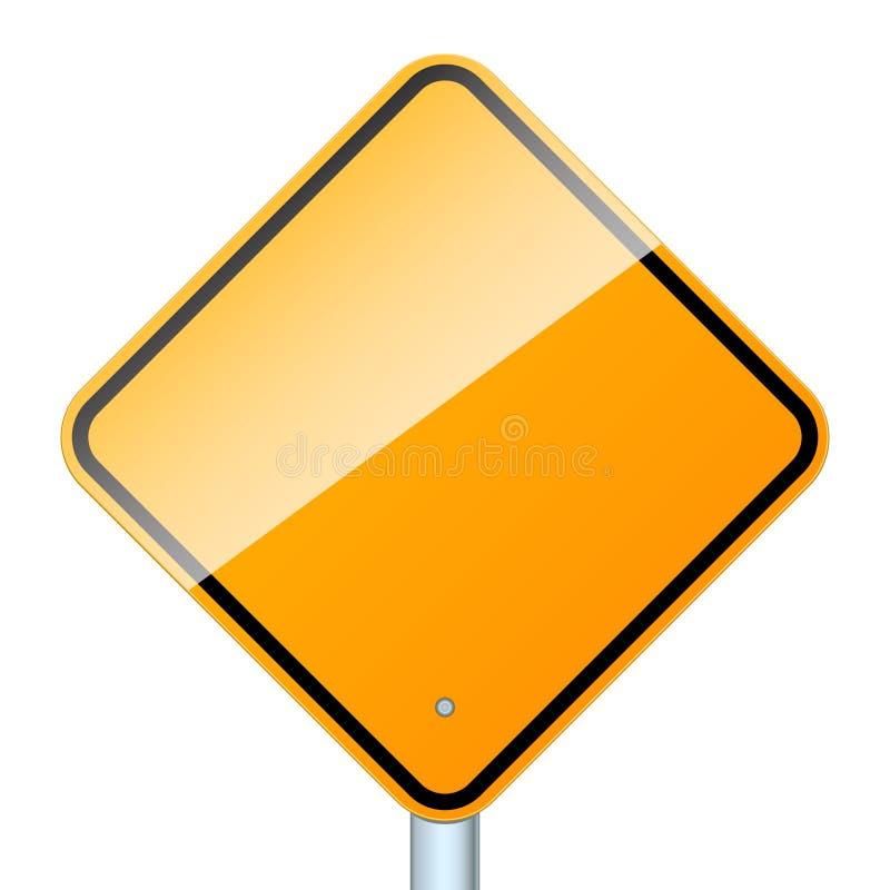 Unbelegtes Verkehrsschild getrennt lizenzfreie abbildung