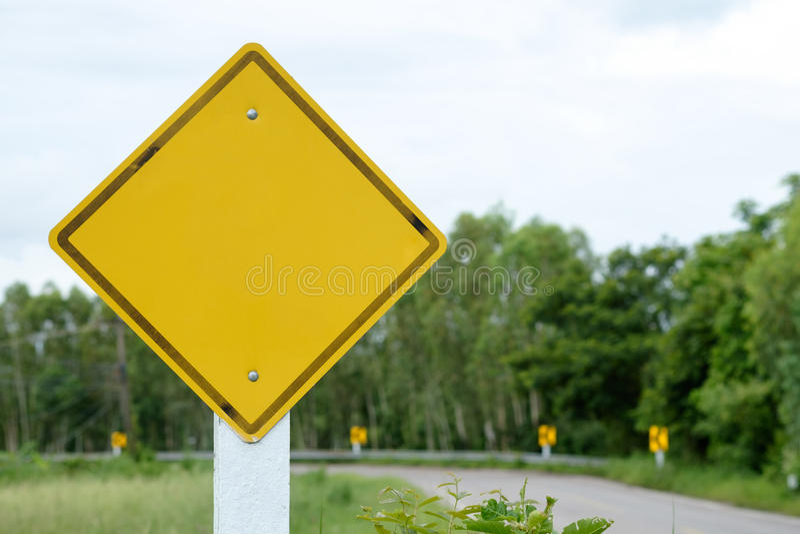 Unbelegtes Verkehrszeichen stockbilder