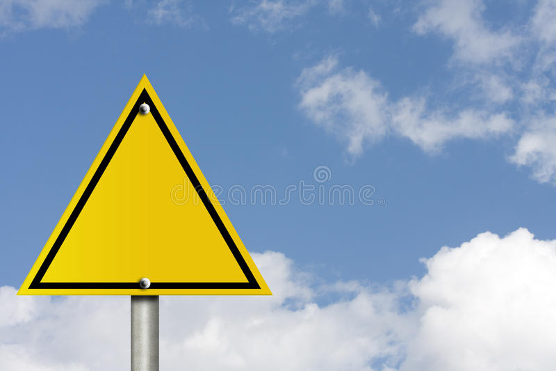 Unbelegtes WARNING stockfotografie