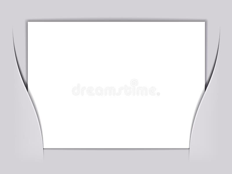 Unbelegtes weißes Viereckspapier lizenzfreie abbildung