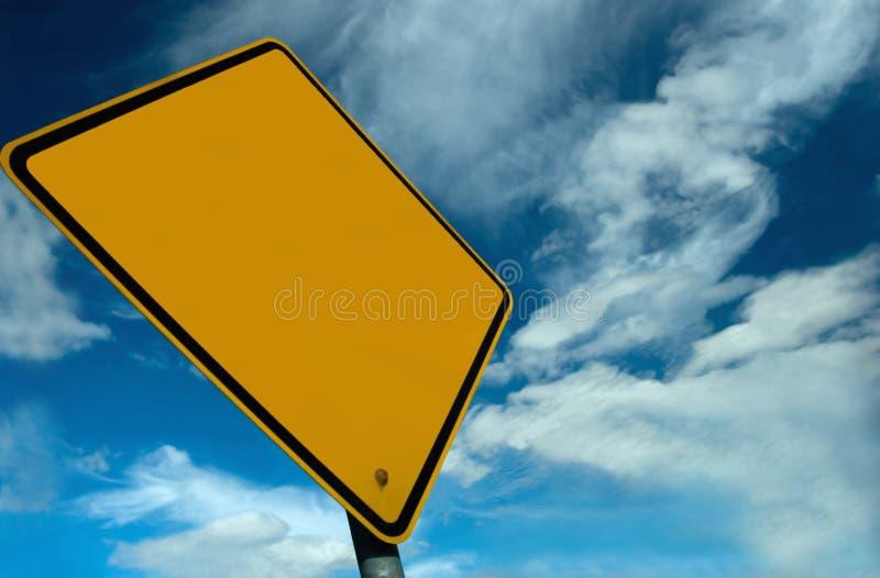 Unbelegtes Zeichen lizenzfreies stockbild