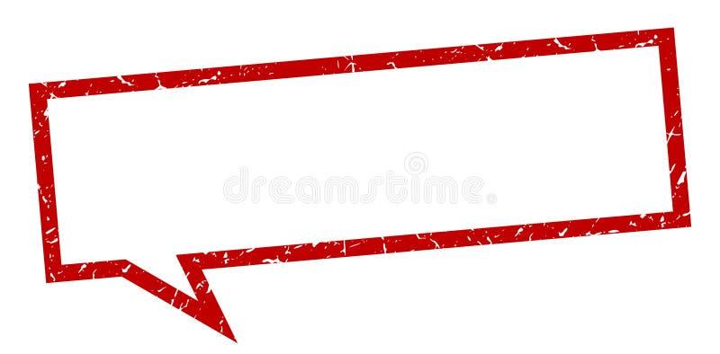 Unbelegtes Zeichen Leere Sprache-Blase leerzeichen stock abbildung