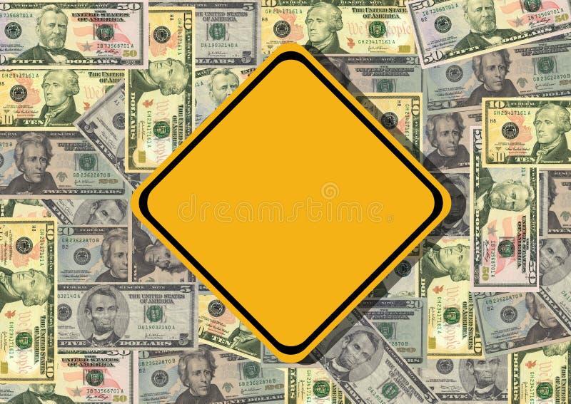 Unbelegtes Zeichen mit Dollar vektor abbildung