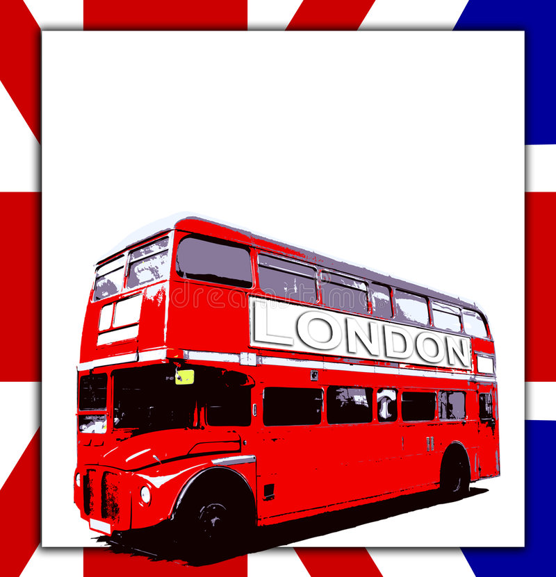 Unbelegtes Zeichen und Bus vektor abbildung