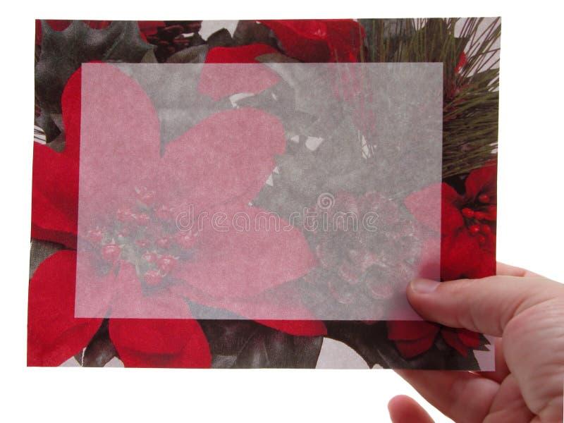 Unbelegtes Zeichen: Weihnachtseinladung lizenzfreie stockfotos