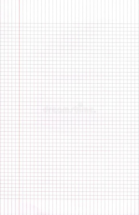 Unbelegtes Zeichenpapier mit Maßeinteilung quadriert Hintergrund lizenzfreie stockfotos