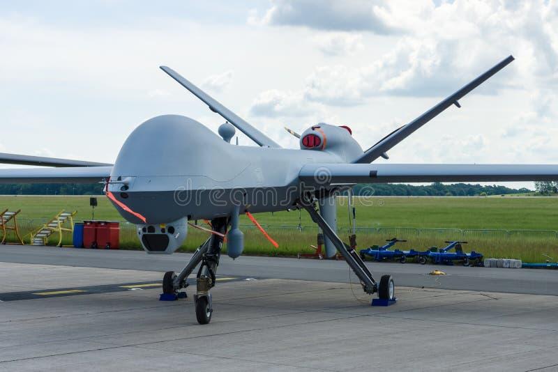 Unbemannte Kampfluftfahrzeug allgemeine Mähmaschine Atomphysik-MQ-9 lizenzfreie stockfotos