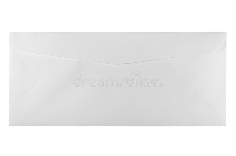 Unbenutzter weißer Zeichengrößenumschlag getrennt lizenzfreie stockfotos