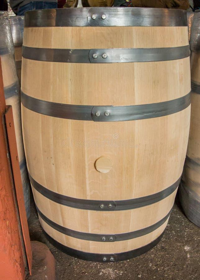 Unbenutztes Bourbon-Fass lizenzfreie stockfotos