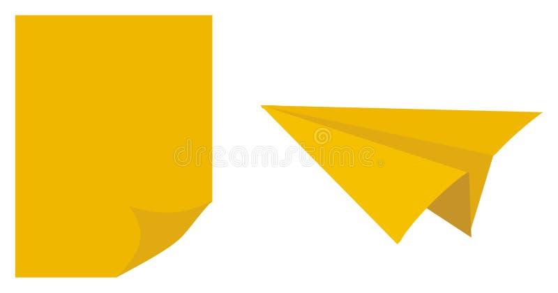 Unbeschriebenes Papier und Fläche vektor abbildung