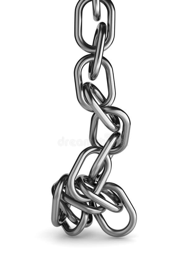 Unbind metalu łańcuch ilustracja wektor