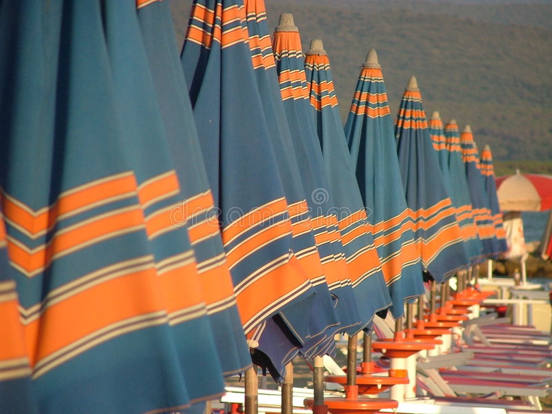 Unbrellas de Sun imagen de archivo