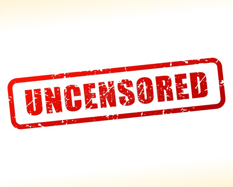 Uncensored text buffered stock illustration
