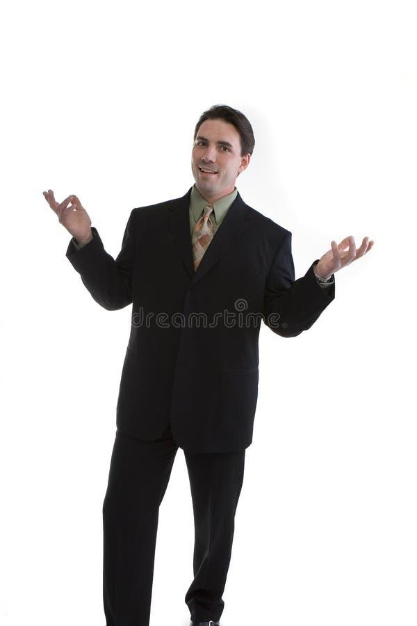 Uncertain businessman stock photo