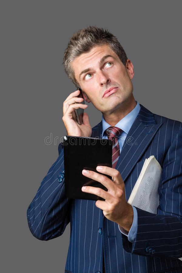 Uncertain businessman