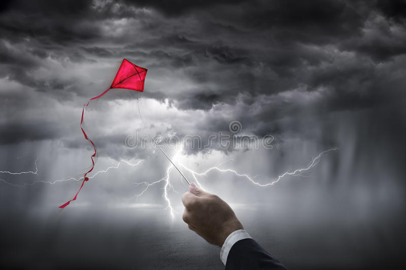 Uncertainty aspirations business - risk investment. For following their dreams stock photography