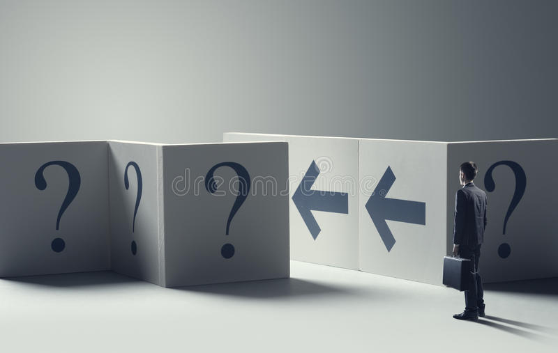 Download Uncertainty In Business Concept Stock Photo - Image of confusion, success: 36576214