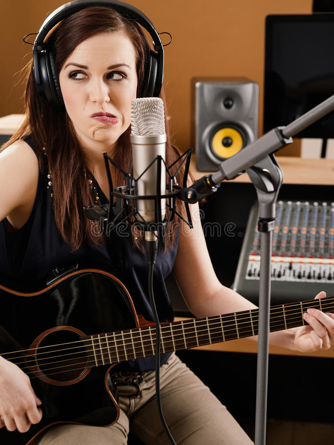 Uncertainty In The Recording Studio Stock Photography