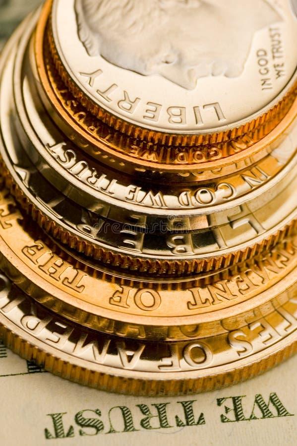 uncirculated的美国货币理想 库存图片