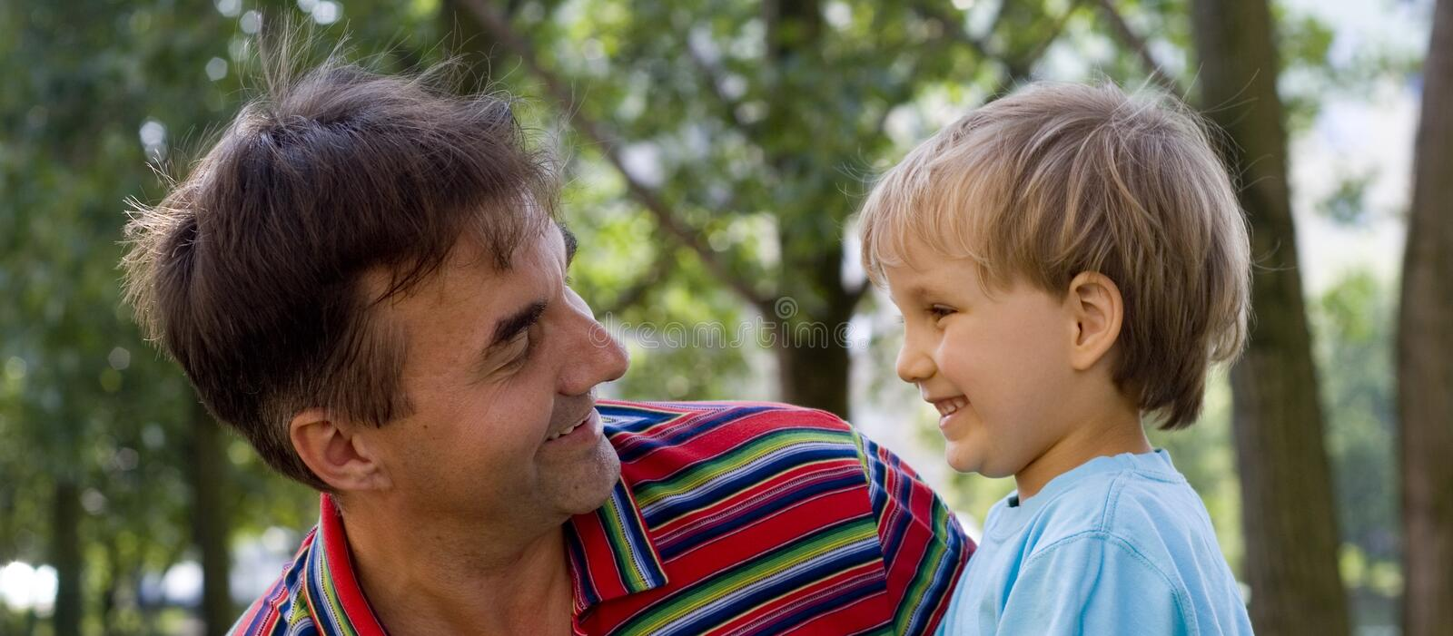 Uncle And Nephew 2 royalty free stock images