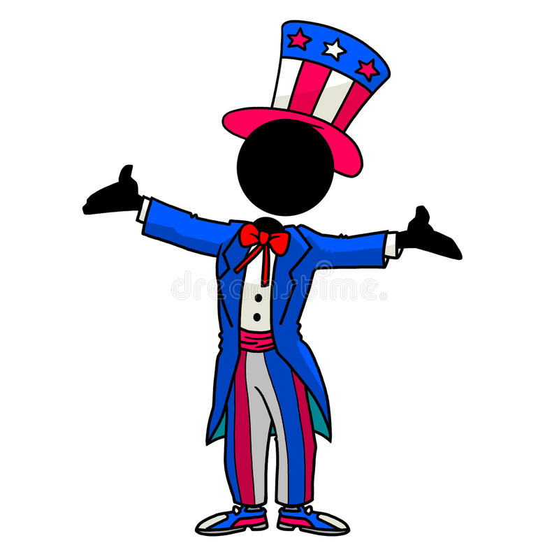Download Uncle Sam stock illustration. Image of party, cosplay - 17847447