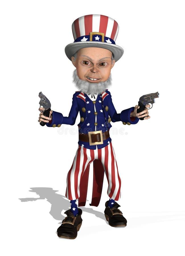 Uncle Sam as a Gunslinger