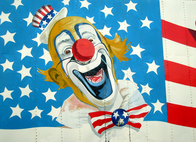 Uncle Sam Auf amerikanischer Flagge lizenzfreie abbildung