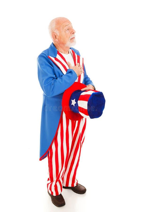 Uncle Sam - Bürgschaft der Untertanentreue stockfotos
